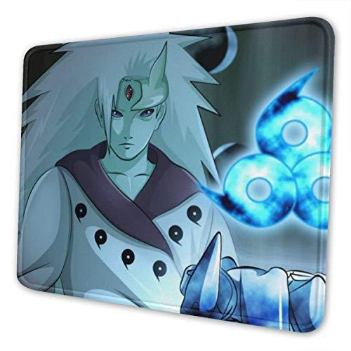 Naruto Uchiha Madara - Alfombrilla de ratón rectangular de goma antideslizante para juegos (7,9 x 9,5 pulgadas)