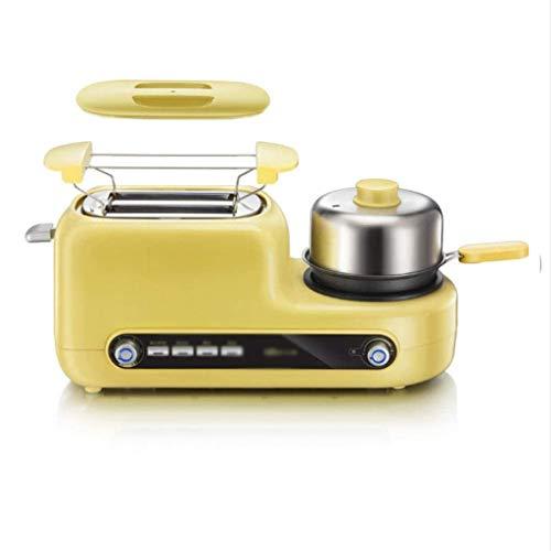 SJYDQ Acero Inoxidable Tostadora eléctrica del hogar portátil Desayuno Máquina automática panificadora Fabricante de los Huevos fritos Caldera sartén