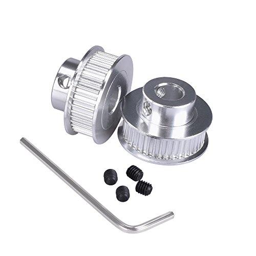 kingprint GT2Timing Pulley Aluminium Bohrung 40Zähne 8mm für breite 6mm für 3D Drucker Teile (Pack von 2)