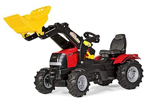 Rolly Toys Traktor / rollyFarmtrac Case Puma CVX 240 (inkl. rollyTrac Lader, für Kinder von 3 – 8 Jahre, verstellbarer Sitz, Luftbereifung,) 611126