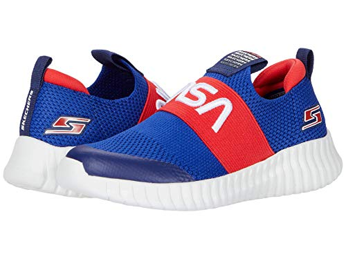 Skechers boys Sport, Sport, Skechers Sport Sneaker, Blue/Red, 13 Little Kid US