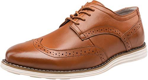 Orange Dress Leather Shoes for Men
