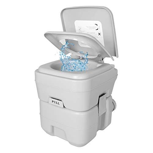 Qdreclod - Inodoro portátil de 20 litros, para exteriores e interiores y exteriores, para caravanas, autocaravanas, baño de doble descarga para ancianos, embarazadas