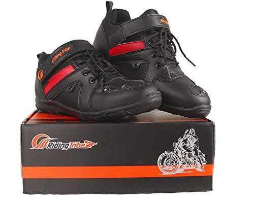 AKAUFENG Motorradstiefel Motorrad Schuhe Herren Kurzstiefel Sneaker Wasserabweisend mit Hartschalenprotektoren 39-45