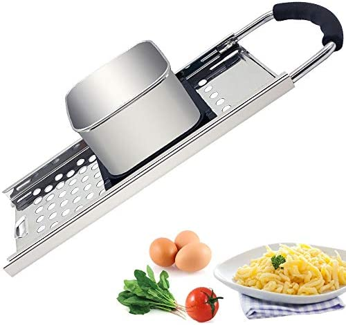 CHEFLY Stainless Steel Spaetzle Maker with Comfort Rubber Grip Handle for Germany Dumpling Noodle product image