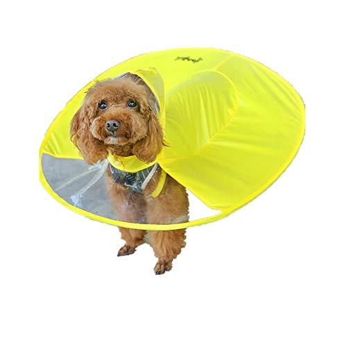 Goosuny Hunde Wasserdichter Regenschirm Regenmantel Mit Kapuze Haustier Regenjacken Nettes Niedlich Poncho Windjacke Pet Hundemode Regenbekleidung