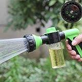 Las Herramientas de jardinería Pistola de Agua de riego Lavadora de Alta presión Motocicleta del Coche del rociador rociado de Plantas de riego Multifuncional Espuma ( Color : Green )