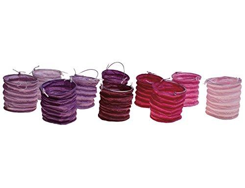 kadoh Papierlampions klein S/10 (S) Höhe 6 cm Ø 5,5 cm pink-lila