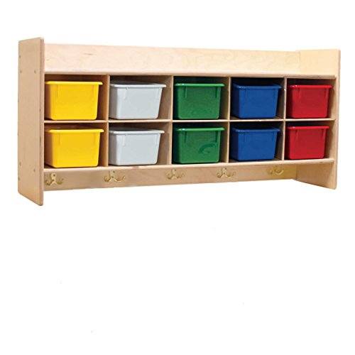 Contender 10 Section Storage Cabinet with Assorted Plastic Bins