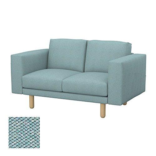 Soferia - IKEA NORSBORG Funda para sofá de 2 plazas, Nordic Sea Green