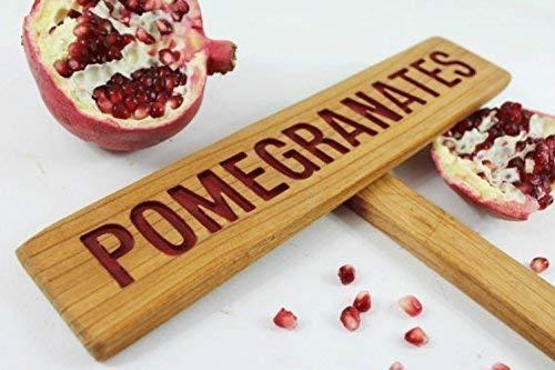POMEGRANATES Fruit Tree Marker Brand new Cedar Selling rankings sign Pl wood Garden