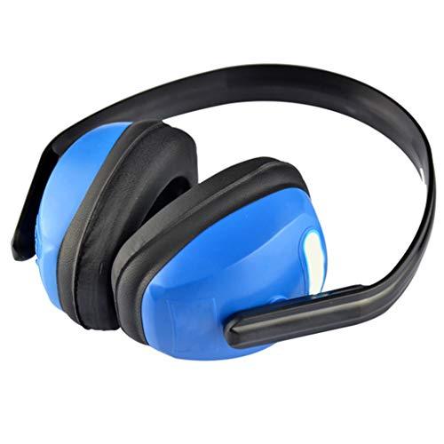 QTT Noise-cancelling Headphones, Head-mounted Adult Geluiddichte Oordopjes Slaap Geluidsreductie Geluiddichte Koptelefoon (blauw)