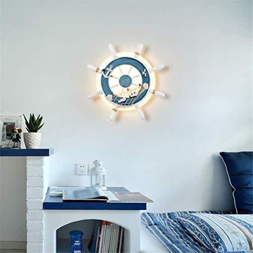 TAIZ Kreative LED Wandleuchte Pirat Ruder Wandlampe Schlafzimmer Kinderzimmer Babyzimmer Wohnzimmer Studie Acryl Wand Lampe Persönlichkeit Hintergrund Wand Ruder Wandbeleuchtung [Energieklasse A++]