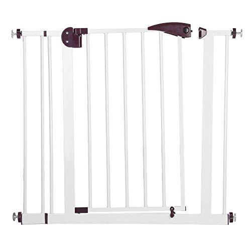 lyrlody Puerta de Seguridad para Niños, Barrera de Seguridad para Puertas Pasillo Escalera de 85-94 cm para Bebé Mascotas(Marrón)