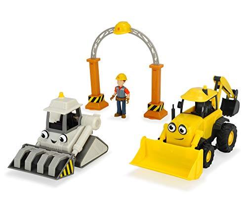 Simba Dickie Toys 203134006–Bob el Constructor de Juego de Garaje con Baggy y Rocky