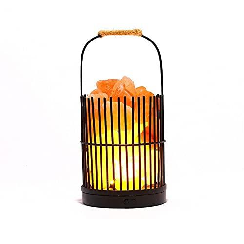 SHYPT Lámpara de Sal Himalaya Pink Piedra luz luz de Noche lámpara de Mesa lámpara de Noche lámpara Noche luz de Noche decoración casera Despierta luz (Size : B)