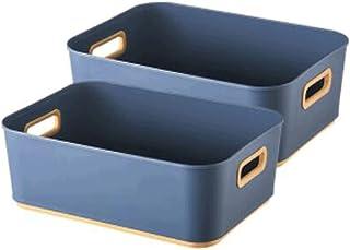 Lpiotyucwh Paniers et Boîtes De Rangement, 27.4x20.7x10cm Petite capacité Boîte de rangement de bureau Cosmétique Stockage...