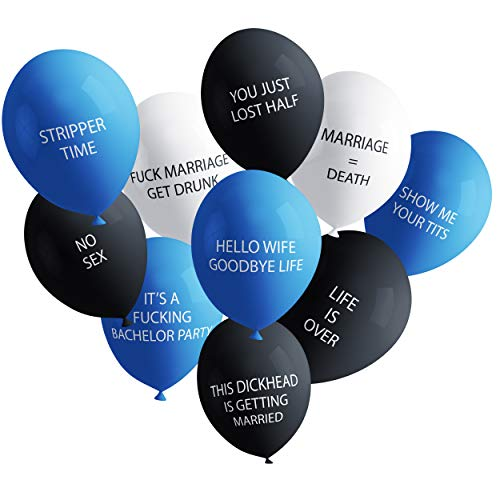 Funny Adult Balloons for Bachelor Party Pack 2 | Hilarious NSFW Gag Gift for Parties | 20 Pack | Naughty Abusive Balloons by Shitty Merch