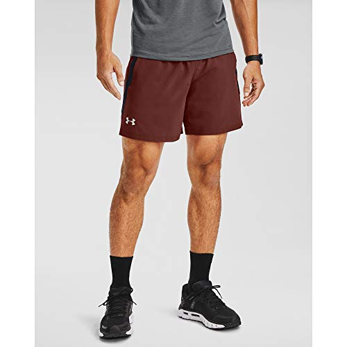 Under Armour Launch Stretch Woven 7-inch Short, Pantaloncini Uomo, Cinna Red (688) / Riflettente, S