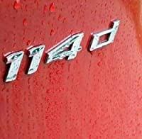 E869 114Dエンブレム114 D番号数字バッジカーステッカー3D車のステッカークロム moneka&co (1 : 1)