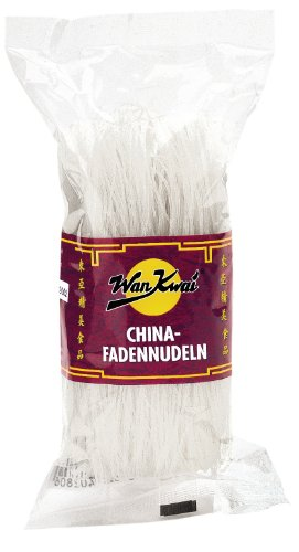 Wan Kwai  China Fadennudeln, 4er Pack (4x 250 g Packung)