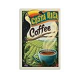 Vintage Costa Rica-Kaffee-Poster, Leinwand-Kunst-Poster und
