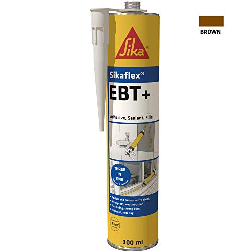 Sikaflex EBT+ Three In One Adhesive, Sealant and Filler, Brown, 300 ml