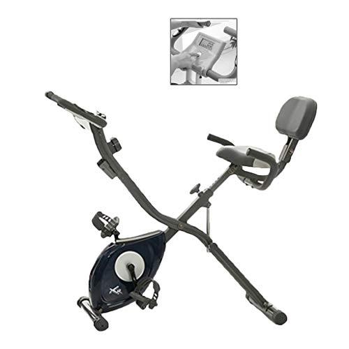 Elípticas Escritorio máquina Cinta de Correr Plegable Fijo de la Bicicleta Cubierta Aptitud de Moto doméstica silenciosa de Bicicleta de Ejercicios magnetrón (Color : Gray, Size : 120 * 50 * 103cm)