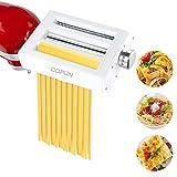 Accesorio para Máquina de Pasta para KitchenAid Batidora de Pie, Accesorio de Cortador de Rodillo de Pasta 3 en 1, COFUN Accesorio para Máquina de Pasta para KitchenAid