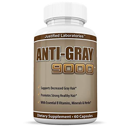Anti Gray Hair 9000 Helps Restore Natural Hair Color 60 Capsules Per Bottle 1 Bottle