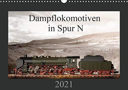 Dampflokomotiven in Spur N (Wandkalender 2021 DIN A3 quer)