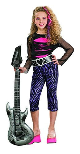 Disfraz de cantante Estrella del Rock para niña, infantil 3-4 años (Rubies...