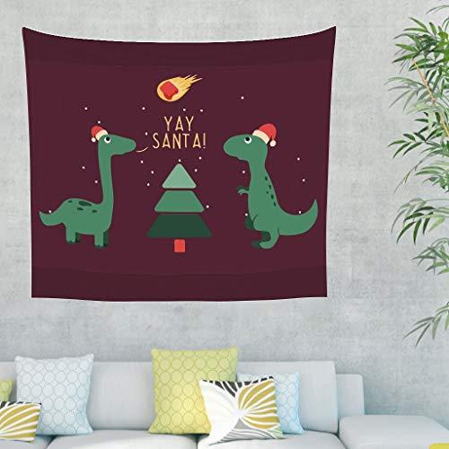NC83 Yay Santa Theme wandbehang Bohemian grote strandhanddoek - grappige dieren voor woonkamerdecoraties