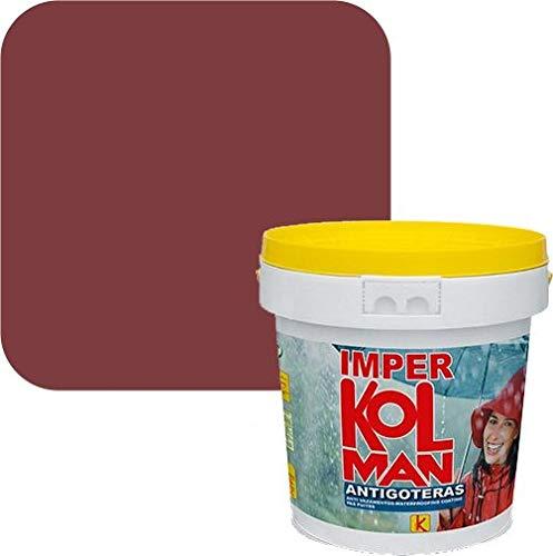 Revestimiento impermeabilizante Imper Kolman. Caucho elástico antigoteras (750 ml., oxido rojo)