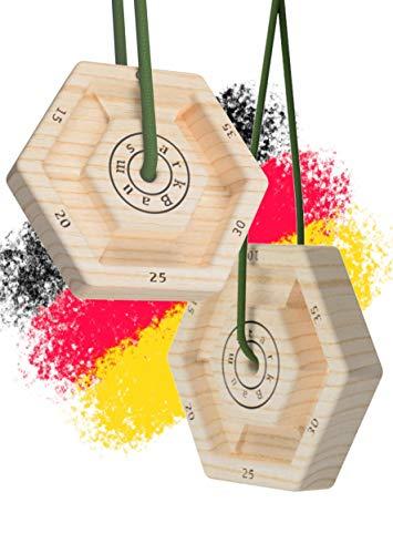 WHEYGHT *NEU* Baumstark Polygon Trainingsboard I Hangboard mobil aus Holz I Fingerboard zum Klettern & Bouldern (2er Set)