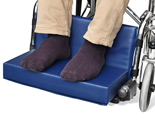 NYOrtho Wheelchair Foot-Rest Extender Elevating Pad - Leg Cushion Protector   Secures Easily with Quick-Release Strap