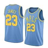 ジェームス James メンズバスケットボールユニフォーム レイカーズ23#ニュートラルレトロ刺繍スポーツウェアファンバージョンバスケットボー