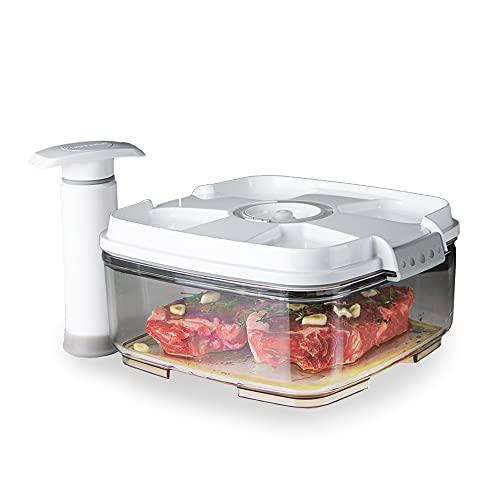 PrepSealer - Food Saving Vacuum Container (2L Square + Pump)