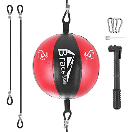 Brace Master Air Double-End Punching Ball Speed Training Ball for Boxing...