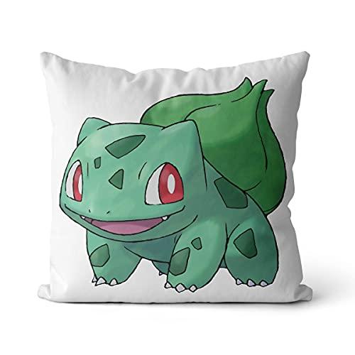 DJHYT Coussin Pokémon Taie d'oreiller Coussin Convient pour Jardin Terrasse Banc Canapé Ferme Décoration Housse De Coussin 40X40Cm