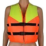 Niños Adultos Deportes Acuáticos Natación Remo Esquí Chaleco Rescate Barco Surf Rafting, Amarillo naranja., 46cmx38cm