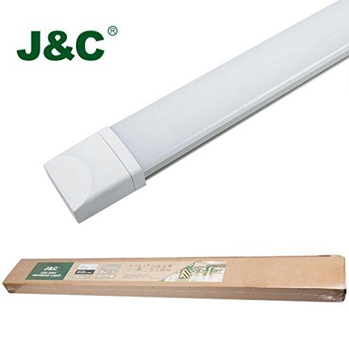 Tube LED J&C® 36W 120CM Plafonnier LED Etanche Réglettes Eclairage Lampe en PC Lumières Résistant à L'humidité Plafonnier luminaire etanche led plafonnier Blanc Naturel IP65 2800LM