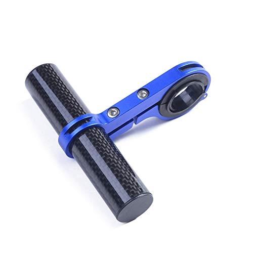 Gwgbxx Extender Manillar De La Bicicleta De Fibra De Carbono De Bicicletas De Montaña Extensión Ampliar La Bicicleta Velocímetro Faro Extender El Soporte Luz (Color : Blue 10cm)