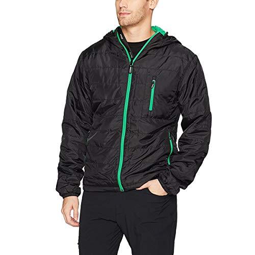 Minus33 Merino Wool 4280 Thermerino Men's Midweight Hooded Jacket Black/Zephyr Medium