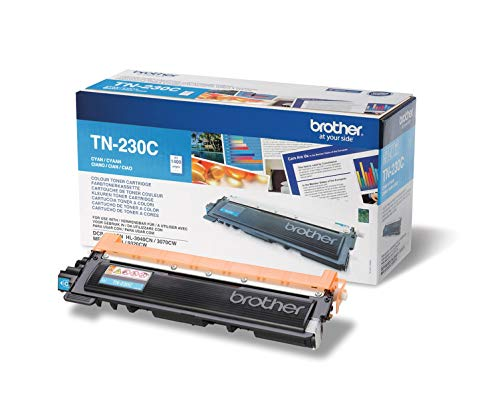 Brother Original Tonerkassette TN-230C cyan (für Brother DCP-9010CN, MFC-9120CN, HL-3040CN, HL-3070CW, MFC-9320CW)