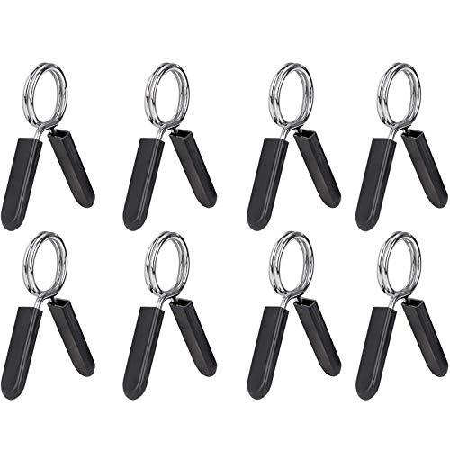 8 Pezzi Clip a Molla Collare, Manubri Clip Palestra, Chiusure a Molla per Manubri, Pinze per Bilanciere Clip, per Sollevamento Pesi, Manubri e Altri Allenamenti per La Forza (30 mm)
