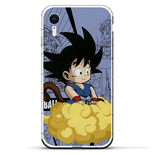 Fashionshot Transparent Slim Liquid Flexible Fundas Soft Case Back Cover for Apple iPhone XR-Super Goku-DBZ Blue 7