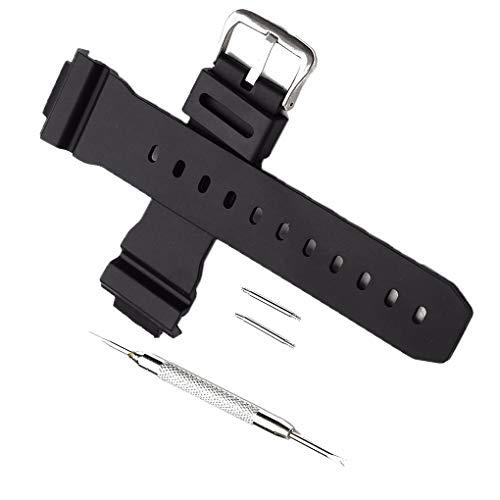 mingtongli Sostituzione Cinghia Cinturino per Casio G Shock DW-6900 Gomma di Silicone Cinturino Ear Batch ago