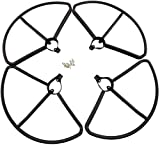 XHUENG 4 Piezas Protectores de hélice para Hubsan H501S H501A H501C H501M H501S W H501S Pro Control Remoto Drone-Accesorios de ala Negra