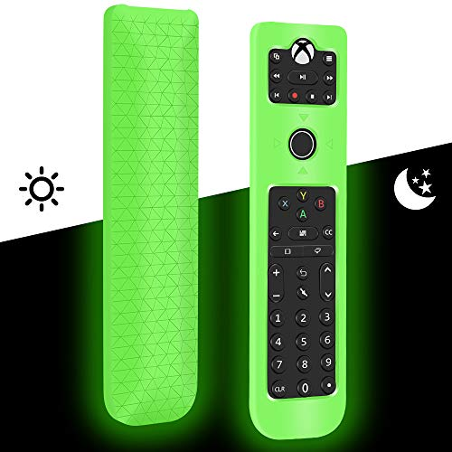 Silicone Protective Case for PDP Gaming Multipurpose Talon Media Remote Control Xbox One Blu-Ray Streaming Media,Shockproof Remote Case Holder for PDP Xbox One Remote Back Cover Case-Glowgreen